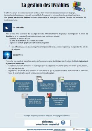 Infographie : optimiser la gestion des livrables dans les projets d'ingénierie
